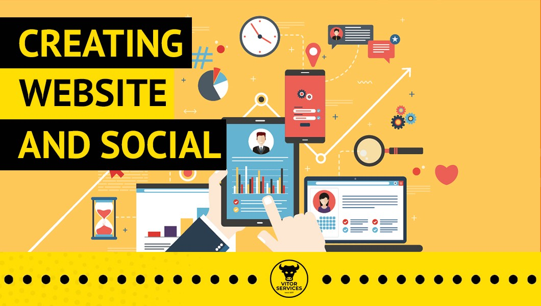 Creating website and social media